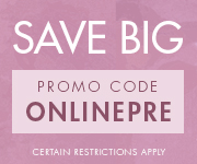 Save with promo code ONLINEPRE